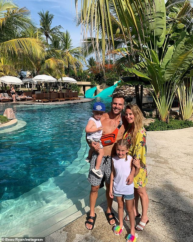 Cute! Meanwhile, Kara shared a sweet family picture by the pool