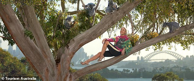 Locations: The ad was shot in a number of locations including Taronga Zoo (pictured), Byron Bay, the Sydney suburb of Cronulla and Western Australia's Rottnest Island