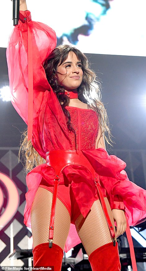 Wow: Camila looked every inch the vision as she took to the stage