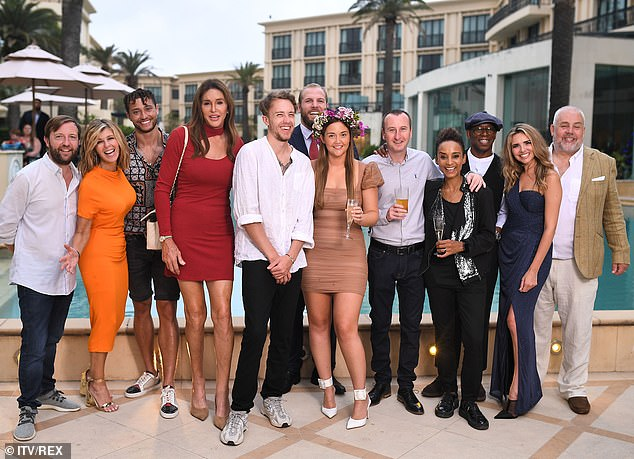 Fresh from the jungle: Andy appeared on I'm A Celebrity... Get Me Out Of Here! earlier this month and finished runner-up to Jacqueline Jossa (pictured centre with the flower crown)