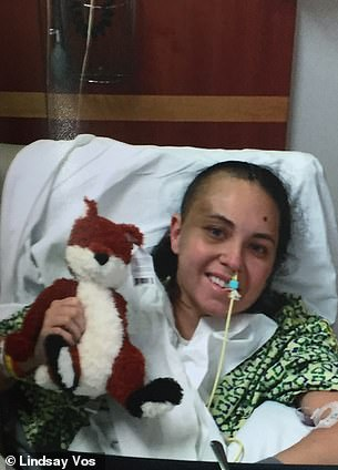 Despite having lost mobility on her left side, Lindsay was all smiles as soon as her breathing tube was removed