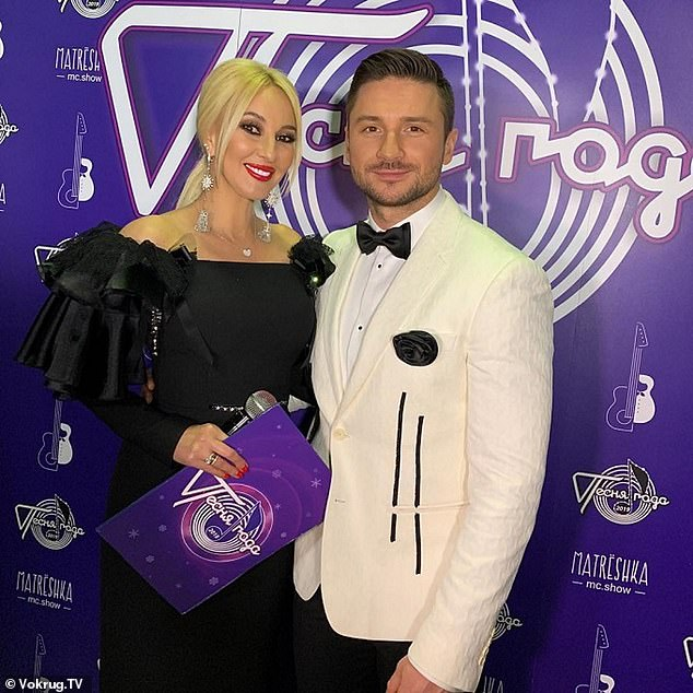 'There was hardly any information available at that time - we were all like laboratory rabbits,' she said. 'I had a check up every year' (pictured with singer Sergey Lazarev)
