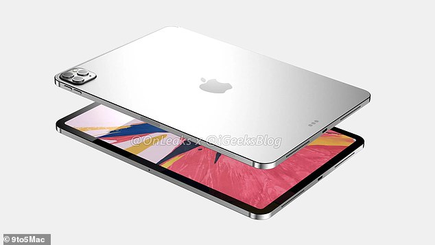 The site only shared the dimensions for the 11-inch iPad Pro (pictured) - 248 x 178.6 x 5.9 mm (7.8 mm including rear camera bump). The renders do paint a clear picture of how the outside of each device will be designed.