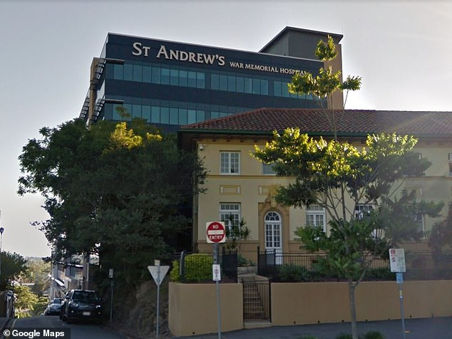 Hospital: Efron was admitted to St Andrews War Memorial Hospital in Spring Hill (pictured) 'in a stable condition' - and received treatment for several days, The Sunday Telegraph reports