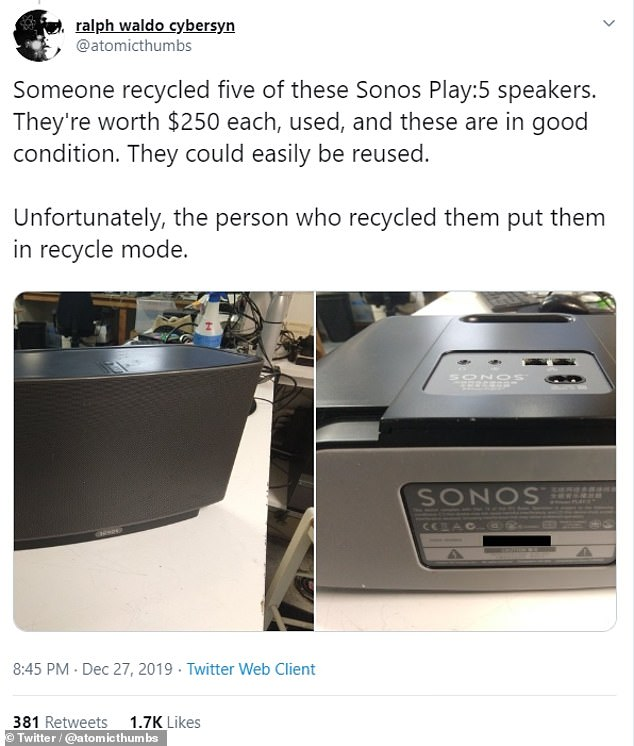 Writing on Twitter, e-waste handler Devin Wilson has slated the Trade Up programme as one that is 'environmentally unfriendly' and 'harms e-waste recyclers'