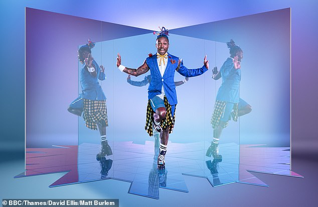 Fun: New captain Todrick looked snazzy as he struck a playful pose for the camera