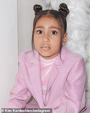 She bought the items as Christmas presents for her eldest child with Kanye West