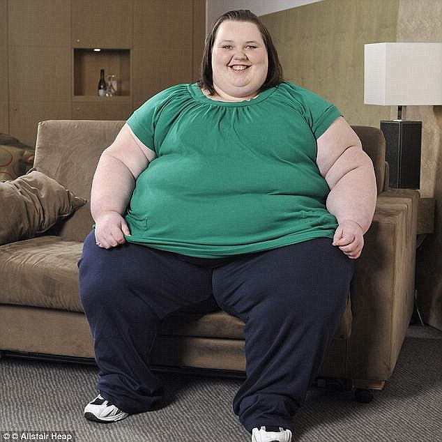 Britain's fattest woman Georgia Davis (pictured) was famously extracted from her home during a seven-hour operation in 2015