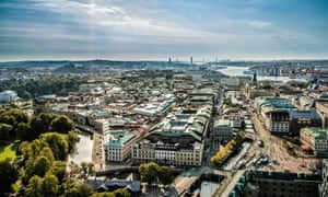 Gothenburg skyline; aerial of Gothenburg