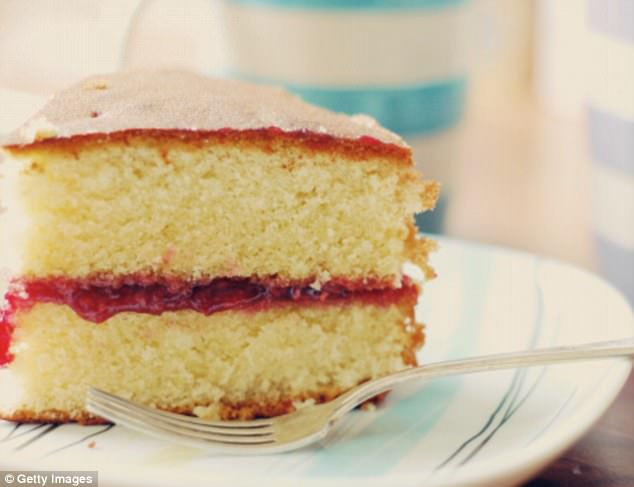 When adequately covered, unfrosted cake is fine to leave out for a couple of days