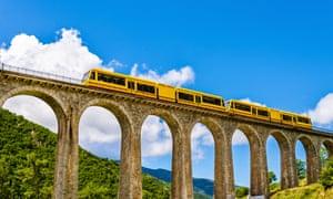 Pyrenees Mountains Train.