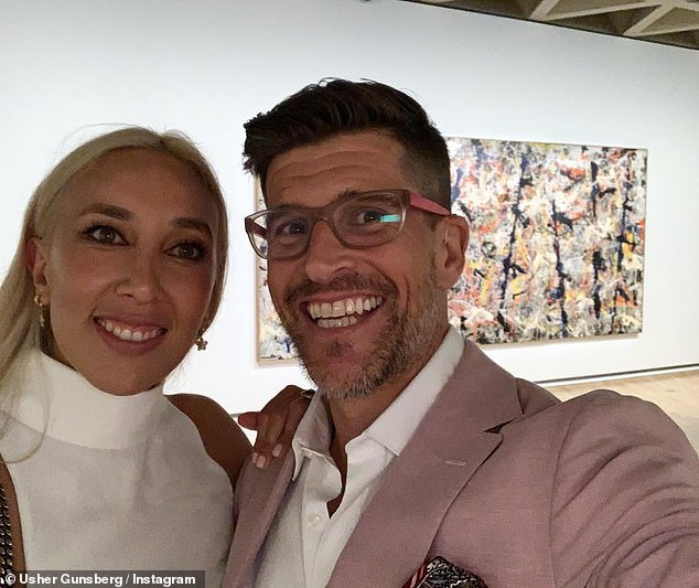 Legally wed: The pair were married in the Hunter Valley in 2017, with Osher becoming stepdad to Audrey's daughter from a previous relationship, 15-year-old