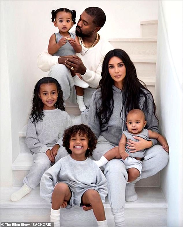 Family: North, six, is Kim and Kanye's eldest child. They are also parents to Saint, four, Chicago, one, and Psalm, seven-months
