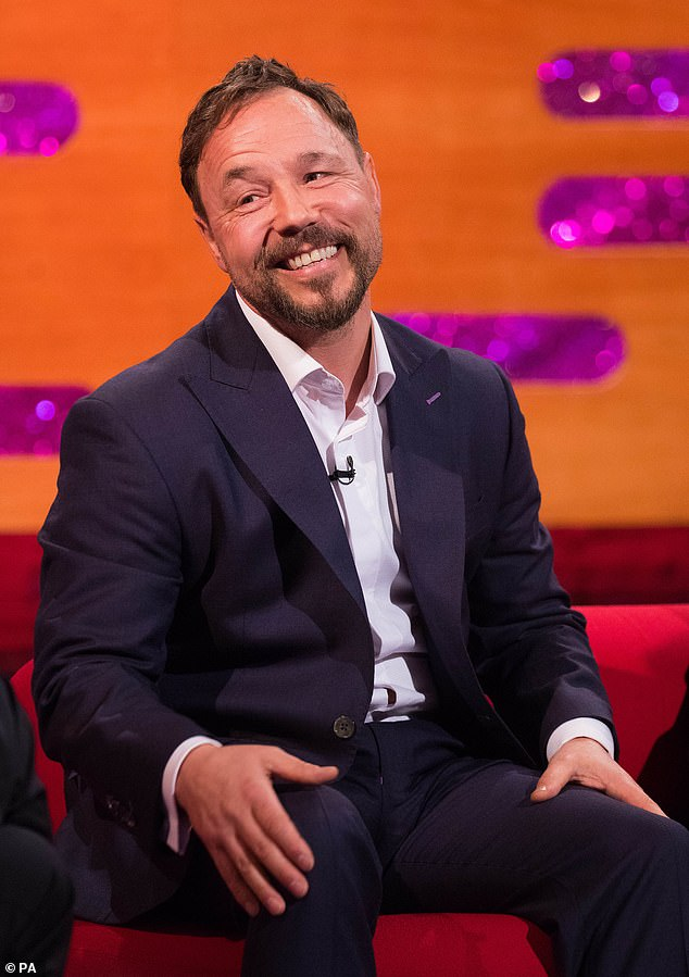Chilling: The actor, 46, spoke about the moment DS John Corbett died after having his throat slit in series five, on the Graham Norton Show, which is set to air on New Year's Eve