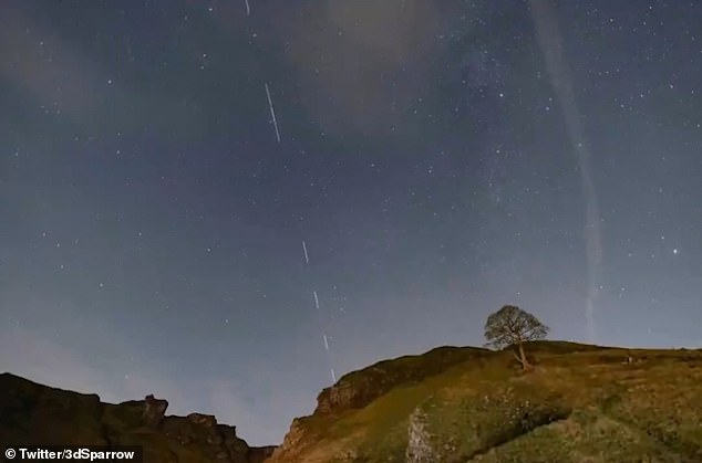 January will see SpaceX's Starlink begin a drive to place 60 new satellites at a time into orbit every few weeks — aiming for around 1,500 by the end of 2020. You can see the 'train' of satellites in the sky over Derbyshire in this image