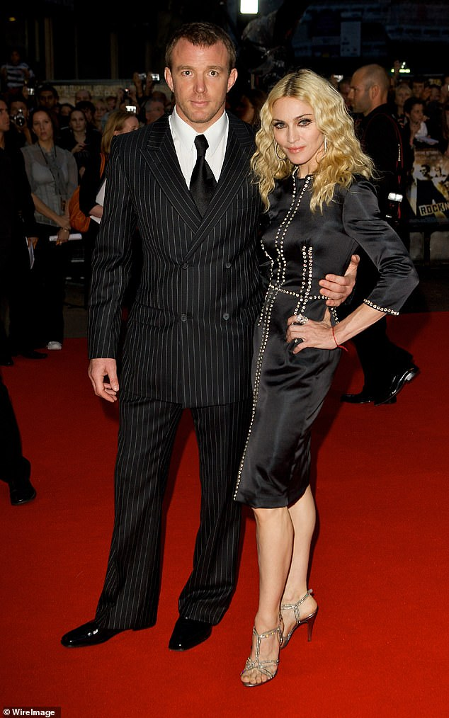 Exes: The film producer and singer, pictured together in 2008, have son Rocco, 19, over whom they waged a bitter custody battle which ended in 2016
