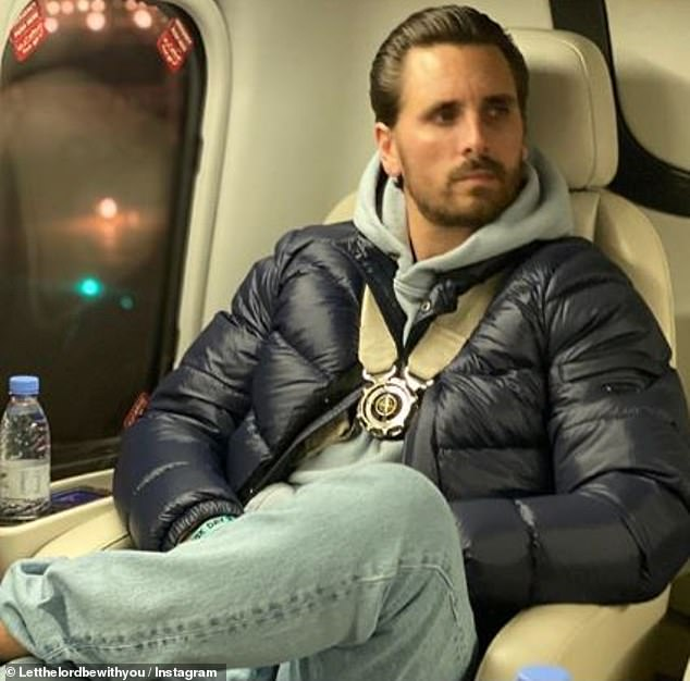 Co-pilot: He also posted a snap of himself while seated in one of the cream leather seats of the helicopter