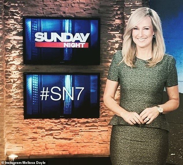 Silver lining: While she admitted to feeling 'disappointed' by Seven's decision to cancel Sunday Night, Melissa still believes that change can be 'healthy'
