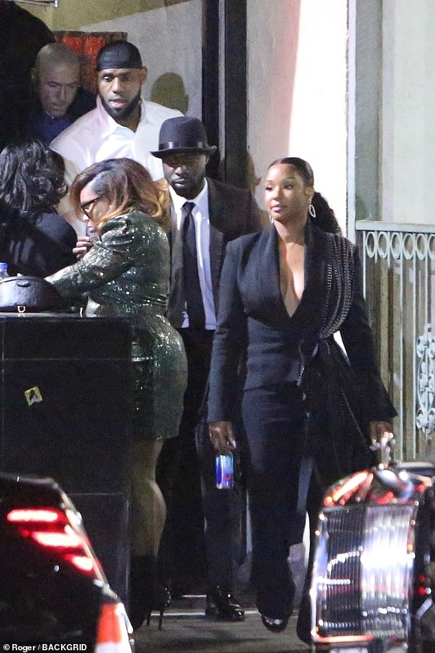 Good times: He was later seen exiting the Crazy Girls strip club with wife Savannah James