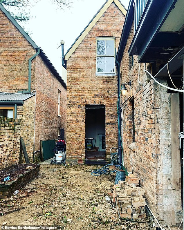 'It was built by the descendants of James Bloodsworth, the very first convict bricklayer': On September 3, Edwina revealed the property's history amid the lengthy renovation