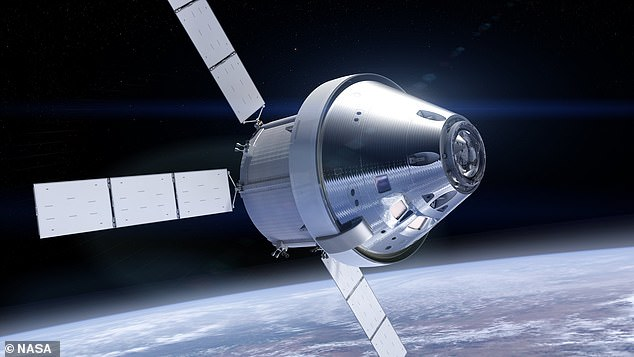 The Orion spacecraft will be able to fly astronauts to the moon, stay in orbit while they explore the surface or dock with the new Lunar Gateway space station (artist impression)