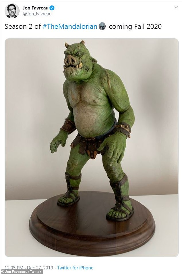 Who this?: Attached to Favreau's tweet was a picture of a Star Wars character absent from the show's first season called a Gamorrean