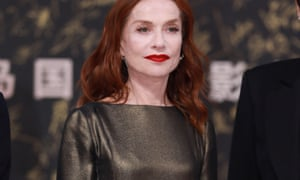 The actor Isabelle Huppert at the Hainan Island International Film Festival in Sanya, China, on 8 December.