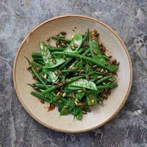 Great British Bake-Off contestants New Year Meal 2019: David's miso-glazed green beans
