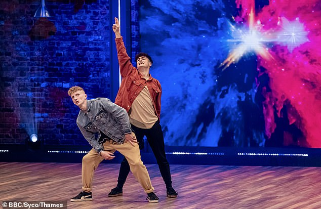 Dance dance: Ross & Travis put on a playful display for the judges