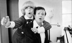 Jerry Herman and Carol Channing rehearsing for Hello, Dolly! in 1978.