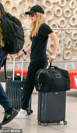 Exciting: Ellie has jetted to Florida just a day before her 33rd birthday
