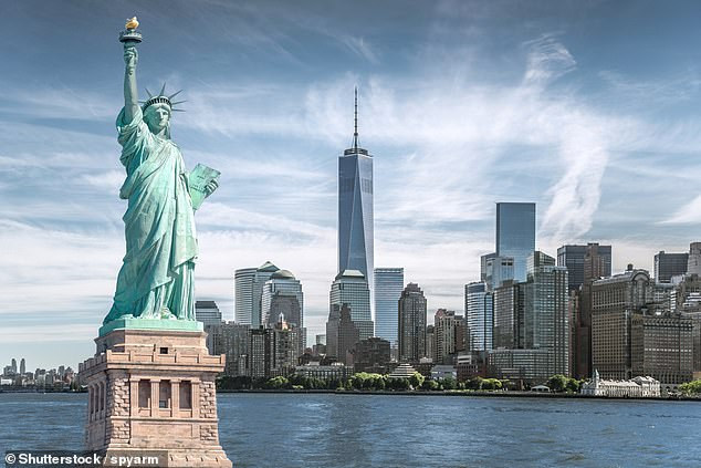 Three asteroids including one about four fifths the size of the Statue of Liberty will make a 'close approach' to Earth this evening, according to NASA (stock image)