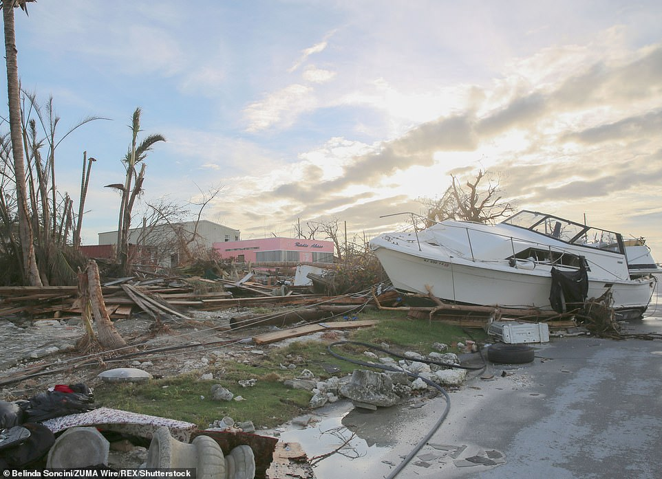 Hurricane Dorian (pictured is the destruction from Hurricane Dorian on Abaco Island, Bahamas) was the most powerful storm to hit the country since records began