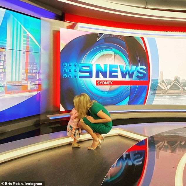 So cute!Erin Molan had a very special visitor to her workplace on Christmas Eve