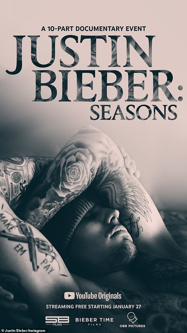 The poster: The poser for the series was also shared that shows Justin covered in tattoos while promoting the YouTube original series