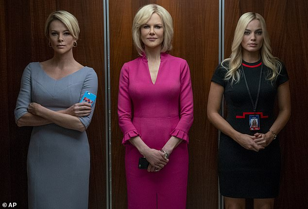 True story: Meanwhile, she portrays Gretchen Carlson in the recently-released Bombshell, which depicts the sexual misconduct allegations against Fox News CEO Roger Ailes