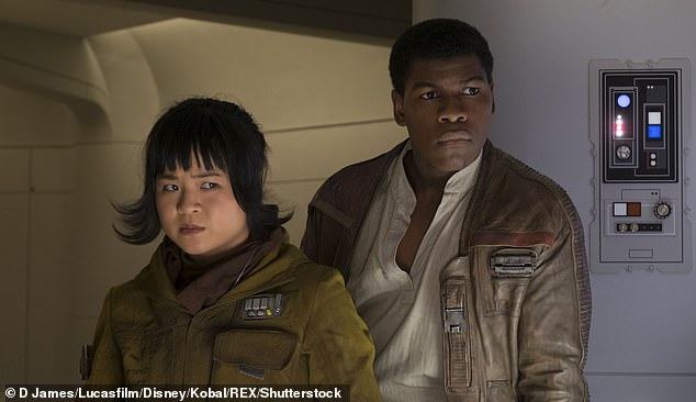 Rose and Finn:Tran made her debut as Tico in The Last Jedi, a mechanic with the Resistance who goes on a mission with John Boyega's Finn, becoming the first woman of color to portray a major character in a Star Wars movie