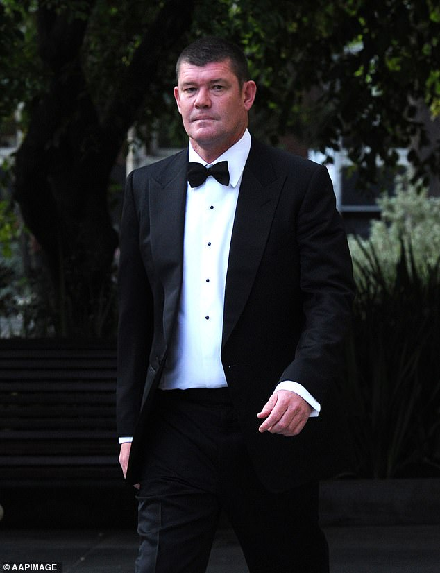 Feeling festive: James arrived in Aspen with his girlfriend Kylie Lim shortly before Christmas for a low-key celebration with friends. Pictured at the Crown Casino in Melbourne in 2014