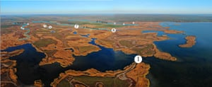 An overview of the dams being removed in the Danube Delta Biosphere Reserve in Ukraine.