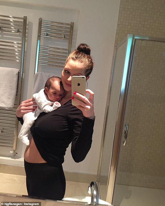 Honest: Helen is mum to two daughters - Maltida, four, and 18-month-old Delilah - and candidly spoke of her struggle to regain her pre-pregnancy figure in a recent social media post