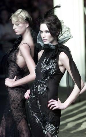 Emanuel Ungaro's autumn-winter haute couture collection in Paris, in 2001.