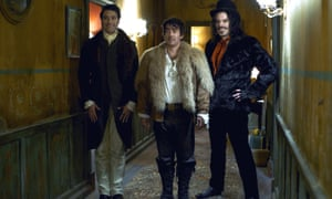 Waititi, Jonathan Brugh and Jemaine Clement in What We Do in the Shadows, 2014.