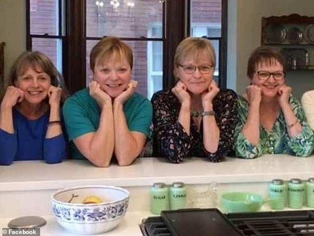 Thirteen members of Mathes's family were tested and 11 tested positive. Pictured from left to right: aunt Nancy Thyfault, mom Jane Setchell, aunt Carol Larson and aunt Judy Gaebler