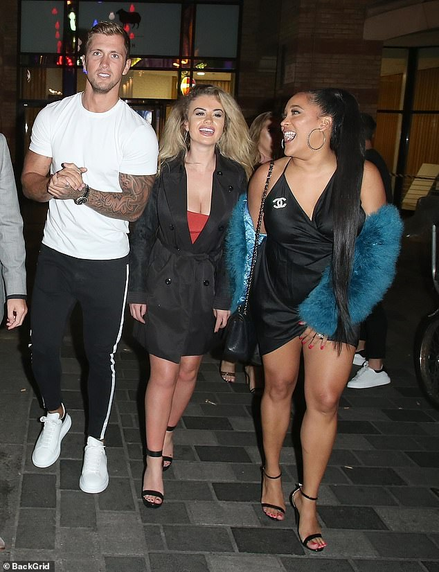 Drama: It was reported that Dan also made a furious phone call to Natalie Nunn, after she explosively 'confirmed' Chloe Ayling's original claim they had a threesome (pictured in 2018)