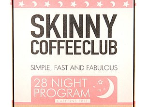 Skinny Coffee recommends swapping normal coffee for their own blend, which combines coffee with garcinia cambogia - a weight loss supplement