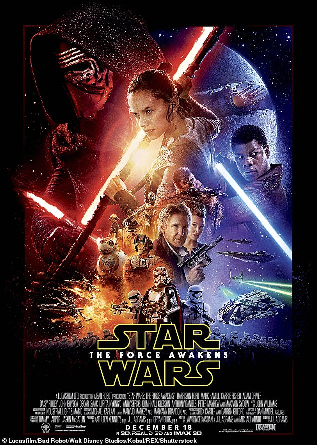 A big deal:This was the biggest Christmas Day for any film since the release of The Force Awakens in 2015, which brought in $49.3million