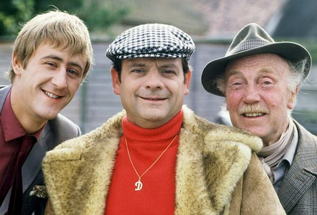 Iconic: The actor, 79, is set to reprise his iconic role as wheeler dealer Del (centre) one last time at a three-day event celebrating the series and his career in February - but fans will have to shell out if they want to meet and have a photo with him