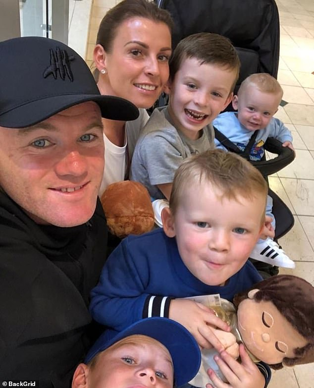 We are family:Coleen has been ringing in the final month of the year with her loved ones, after a tumultuous year with the sportsman (pictured earlier this year)