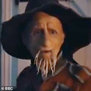 Updated: In the new series, Worzel displays his frayed and wrinkly skin, a slight change to the character's straw-like visage