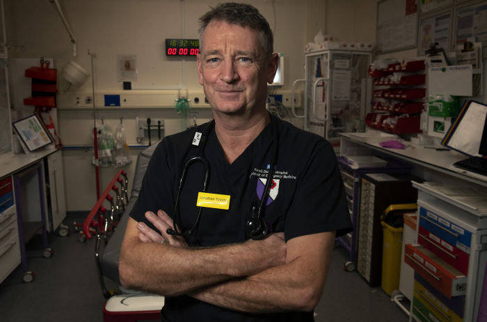 Jon Tipping, the A&E department's clinical director, has drawn up a business case for hiring more staff